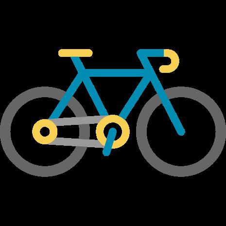 دوچرخه آبی به رنگ آسمان!