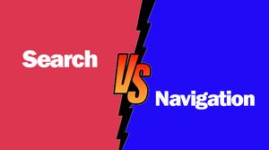navigation  VS. in-site search