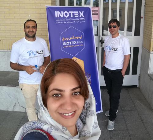 گزارش تصویری حضور تریپ ساز در INOTEX Pitch یزد