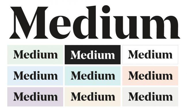 همزمان با معرفی لوگوی جدید، مدیوم یک پالت رنگی نرم و nude رو معرفی کرد که در قسمتهای مختلف سایت ازش استفاده کنه.
