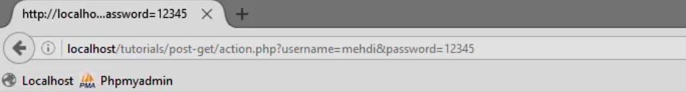 تفاوت متد GET و POST در PHP + مثال عملی