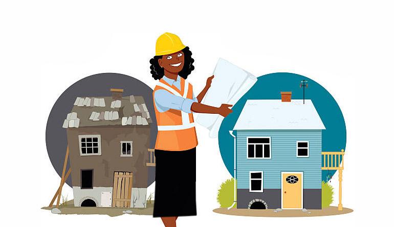 خانه ای که دوباره باید ساخته شود!