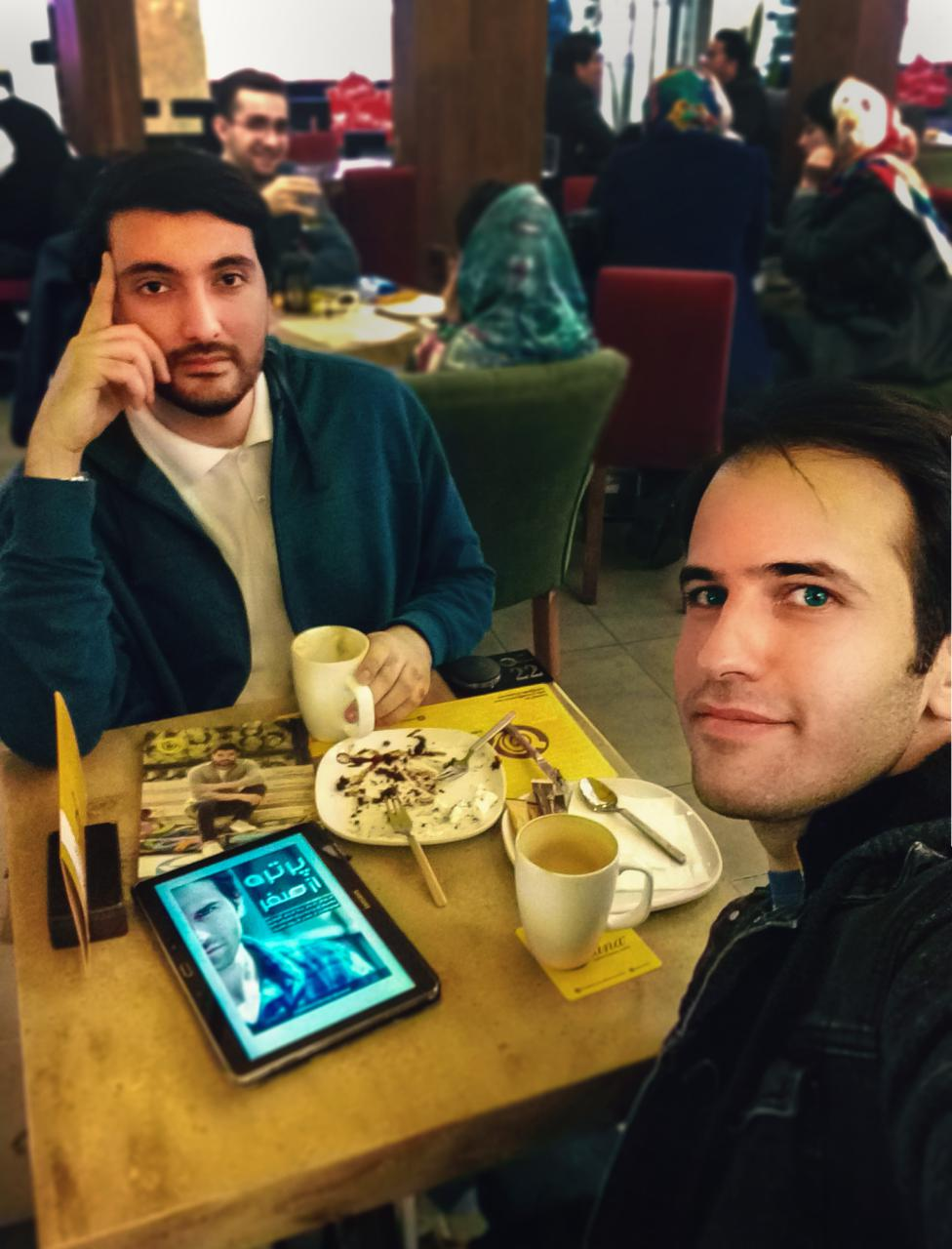جلسه کاری دکتر یوسفیان و مهندس رضاصاد برای پروژه تبلیغاتی بین المللی