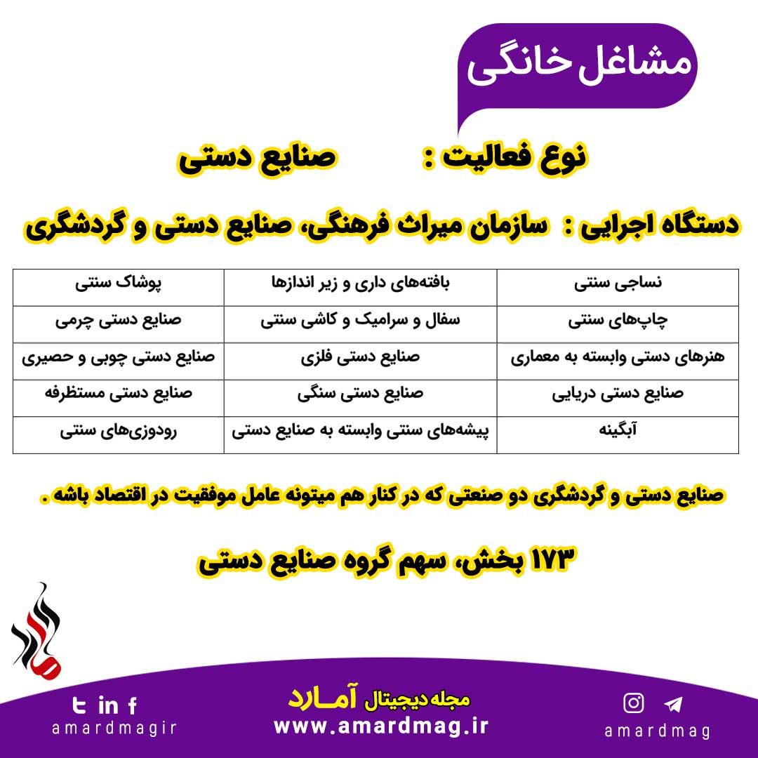 صنایع دستی و مشاغل خانگی