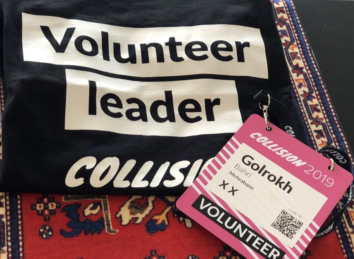 تجربه اخیرم داوطلب بودن در Collision (نسخه امریکای شمالی Web Summit) که بزرگترین گردهمایی و نمایشگاه حوزه تکنولوژی و استارتآپ ها است.