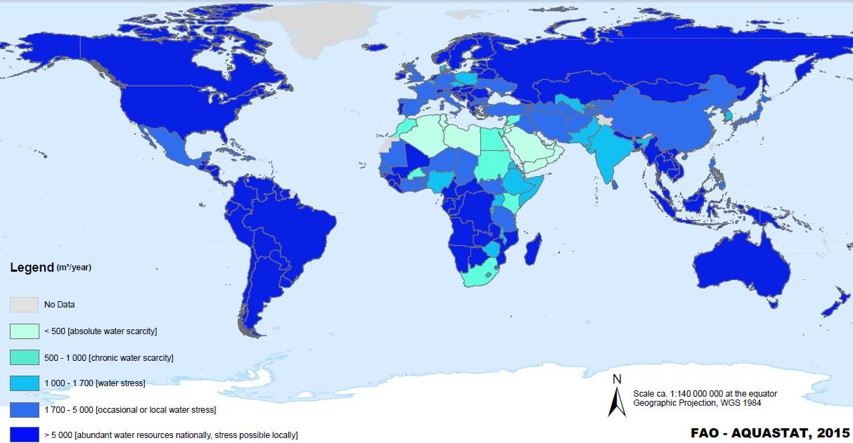 بررسی منابع و مصارف آب ایران و جهان