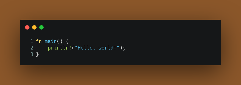 A program that prints Hello, world!