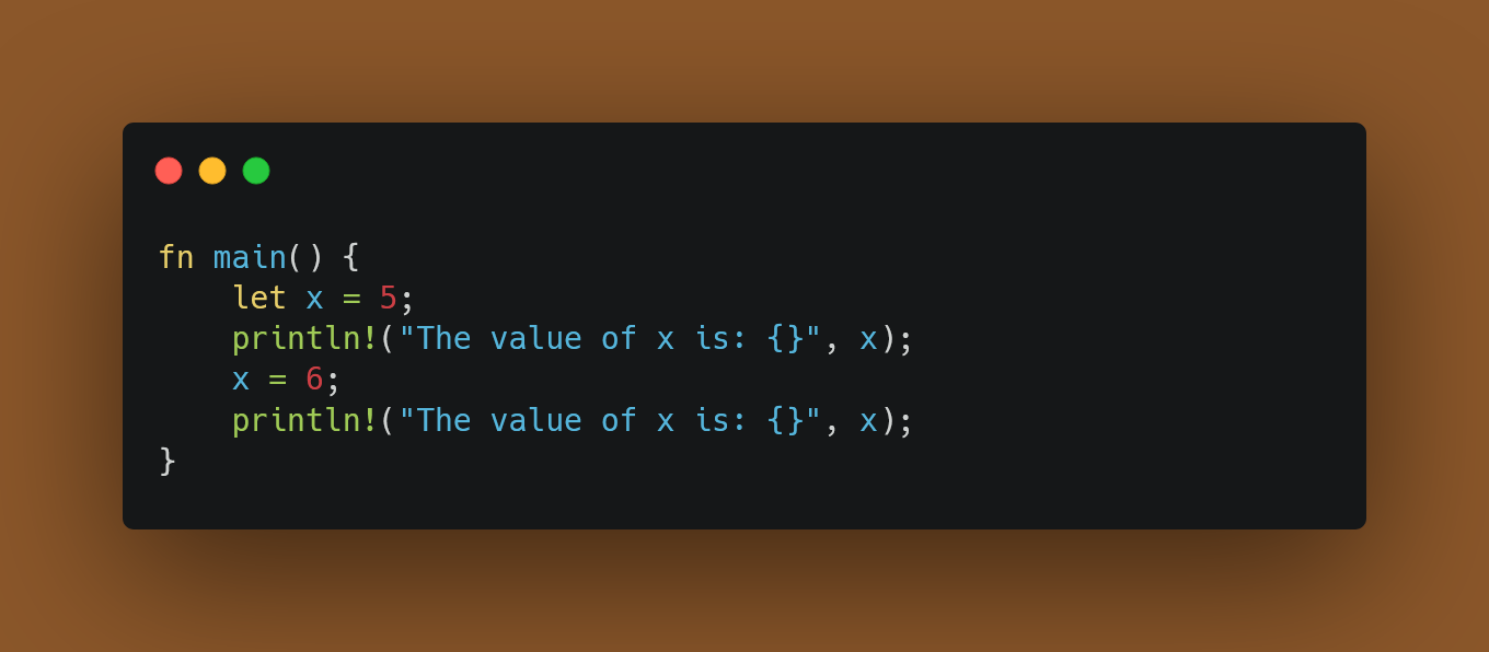 Variables are immutable by default