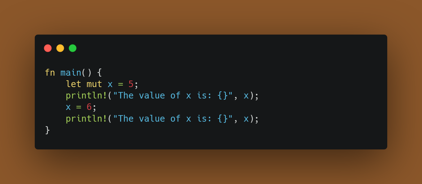 Defining a Mutable variable called x