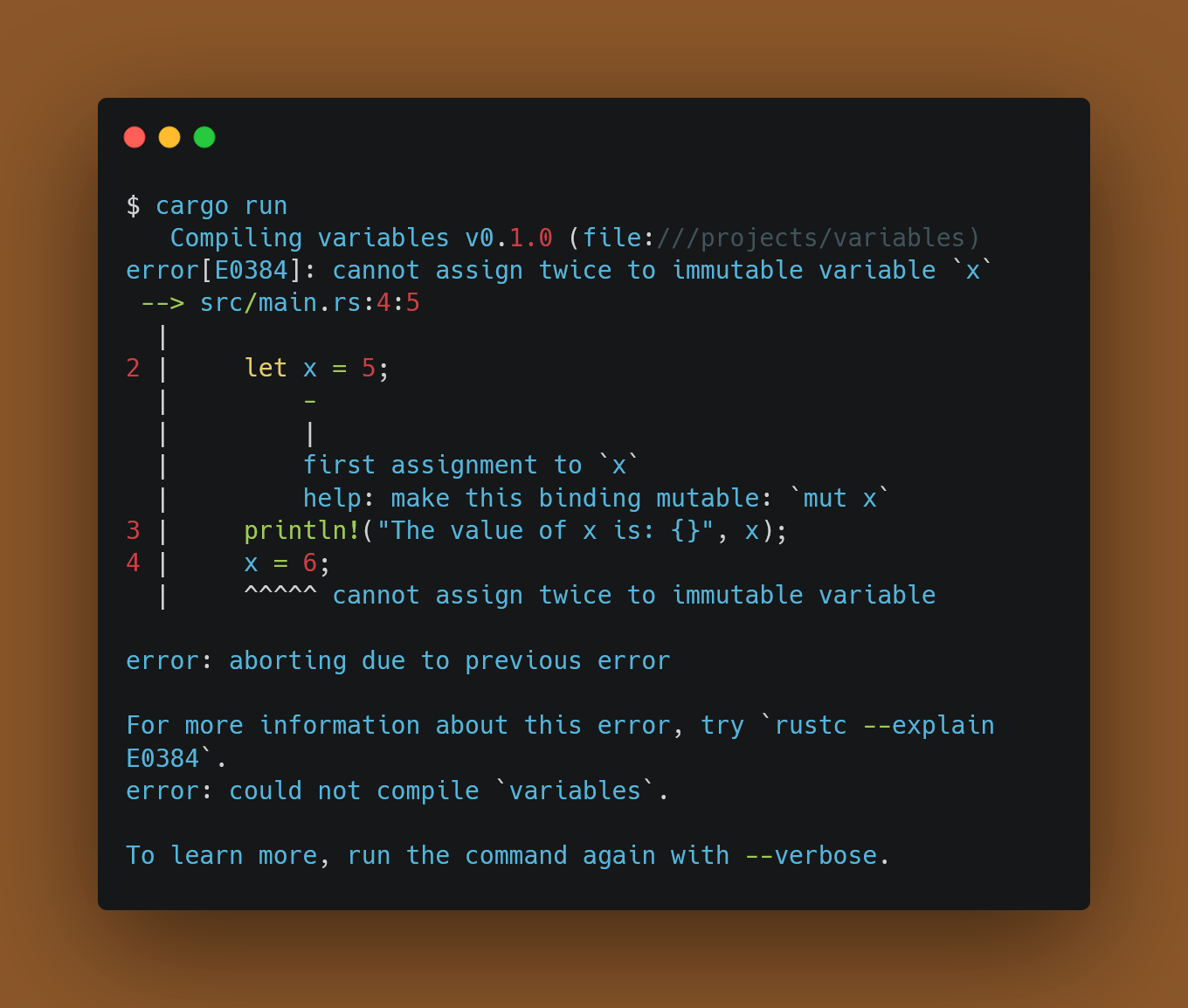 Compile error: cannot assign Twice to Immutable variable