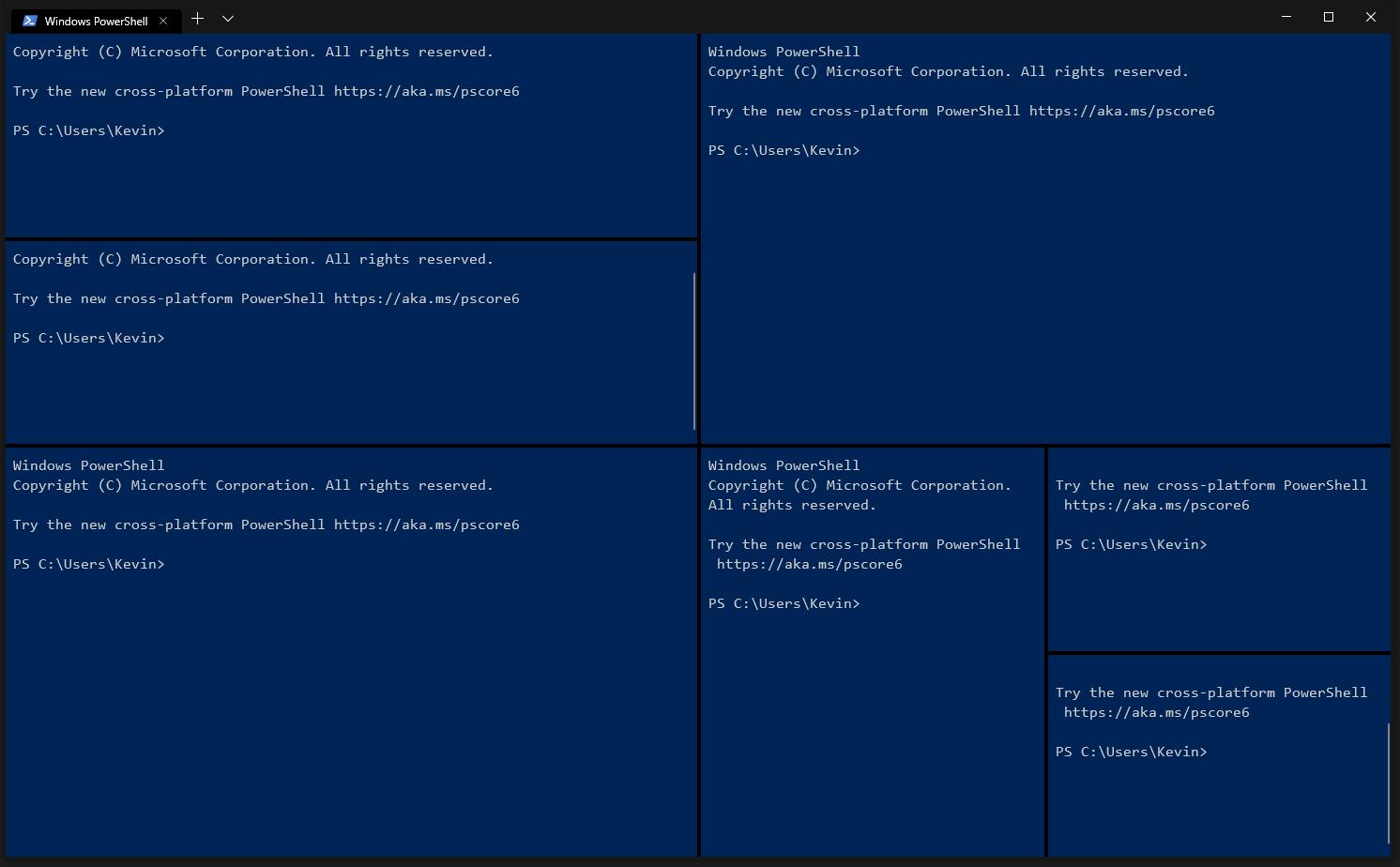 تقسیم صفحه ترمینال ویندوز به چند صفحه بدون نیاز به tmux یا screen