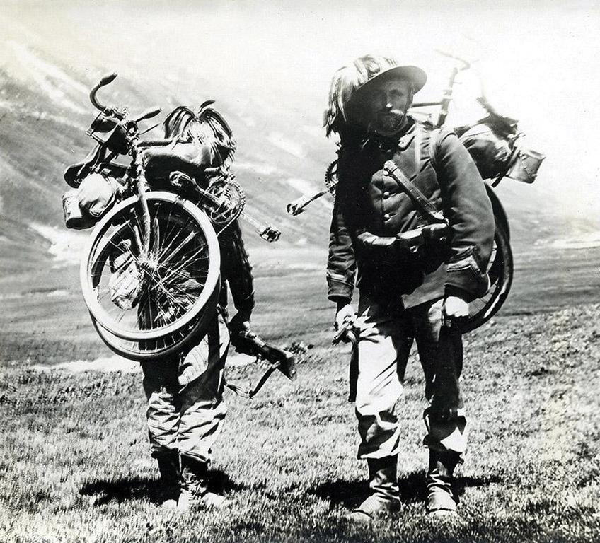 شجاعت حیرت انگیز دوچرخه سواران در جنگ جهانی اول
