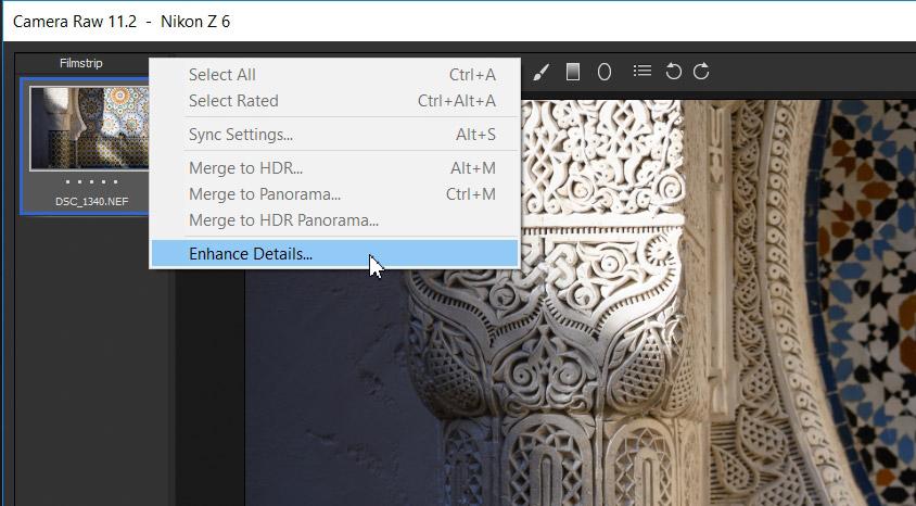 قابلیت Enhance Details در لایتروم، افزایش کیفیت عکسها