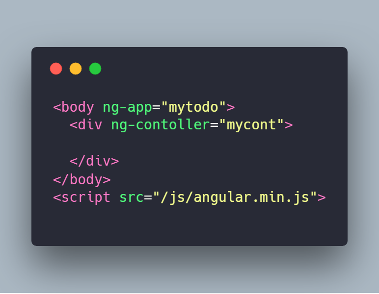 قالب اولیه برای یک اپ آنگولار جی اس