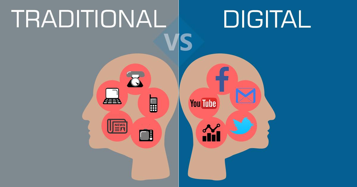 تفاوت بازاریابی سنتی و بازاریابی دیجیتال