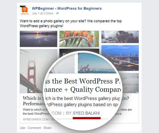 Facebook Author Tag نام شما در فیسبوک