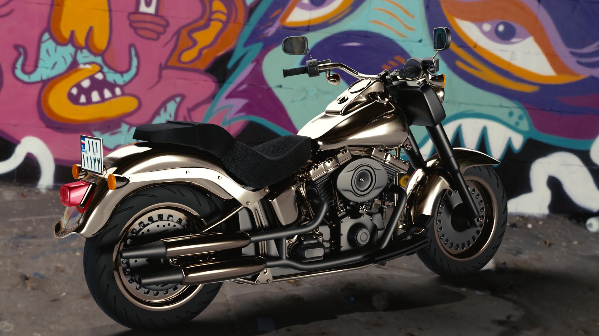 اولین موتور سیکلت ساخته شده من در نرم افزار سه بعدی بلندر