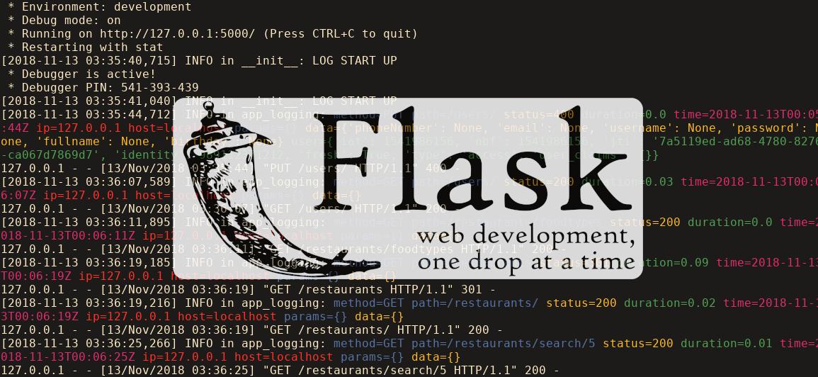 ذخیرهسازی گزارش درخواستها در Flask