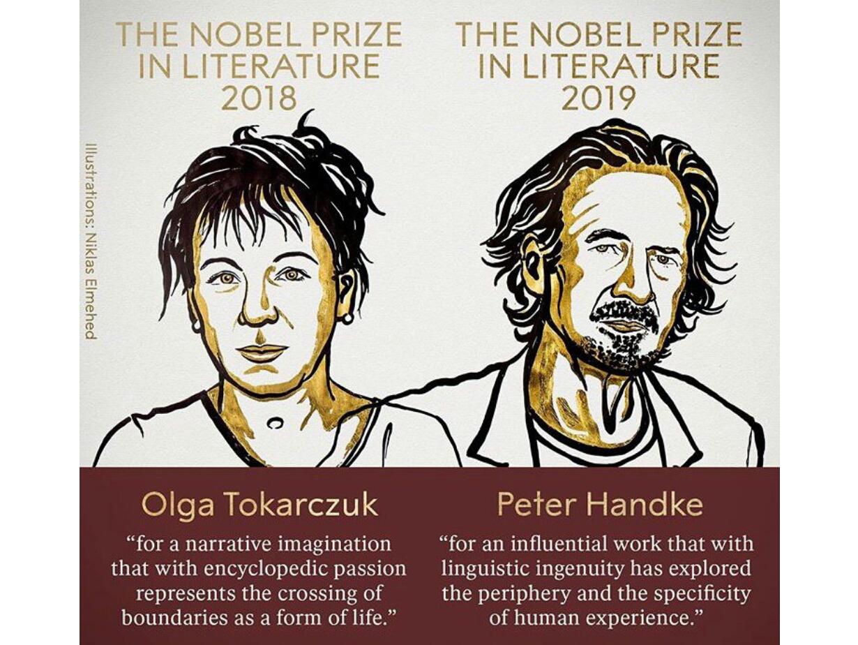 برندگان جایزه نوبل ادبیات