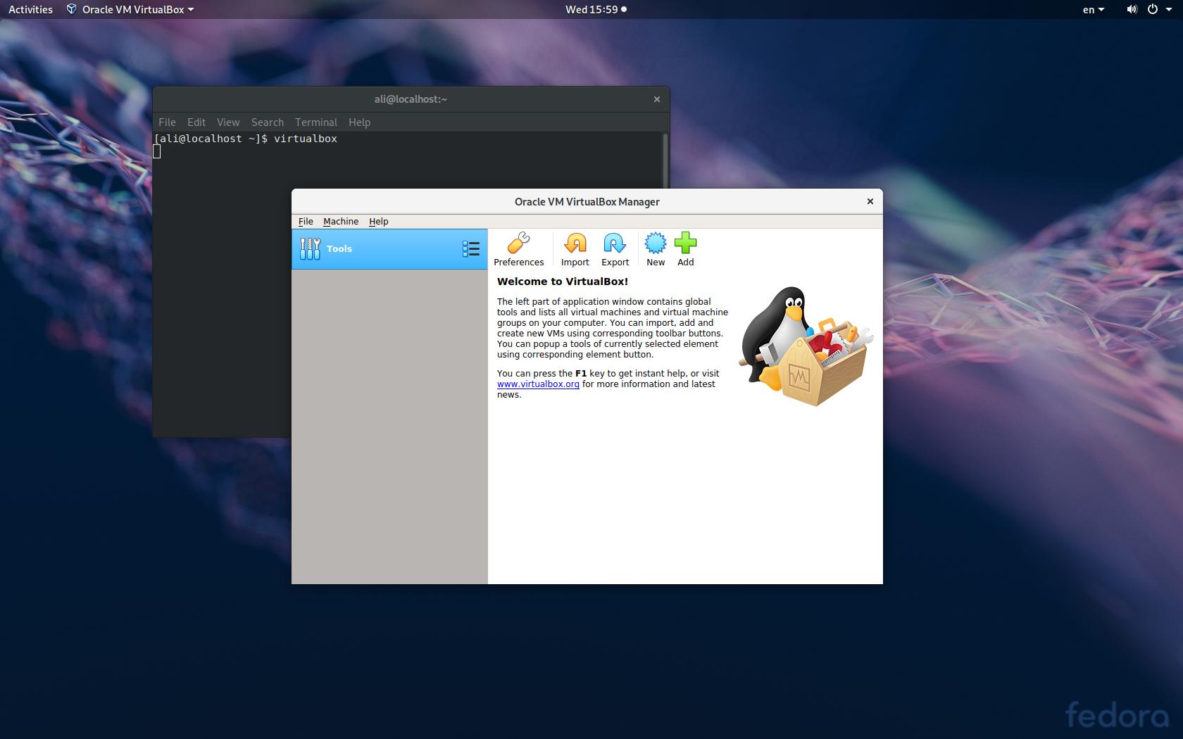آموزش نصب virtualbox بر روی فدورا یا centos 7