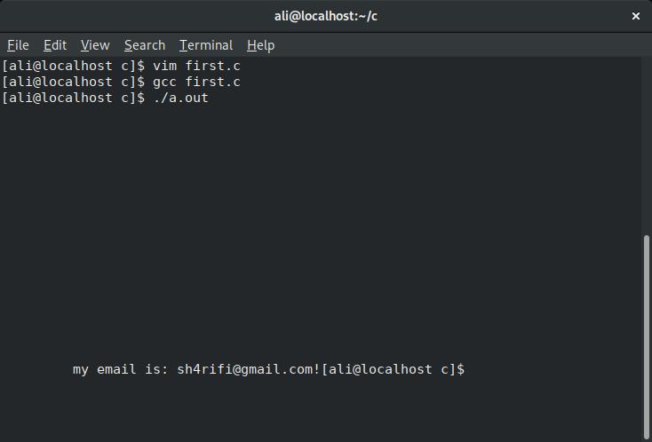 برنامه نویسی C در لینوکس