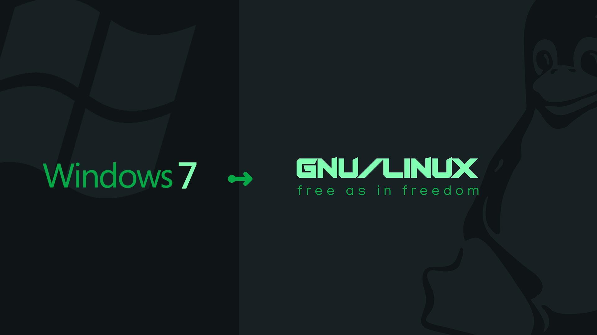 نحوه ارتقاء از ویندوز 7 به گنو/لینوکس