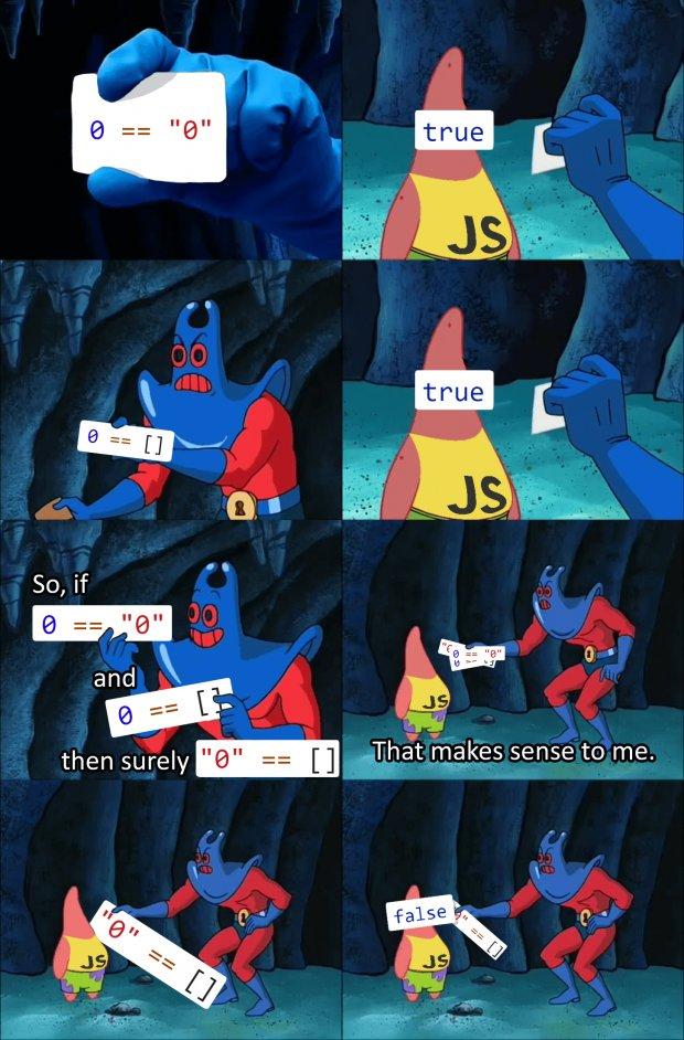 چرا جاوا اسکریپت خنگ به نظر میرسد!