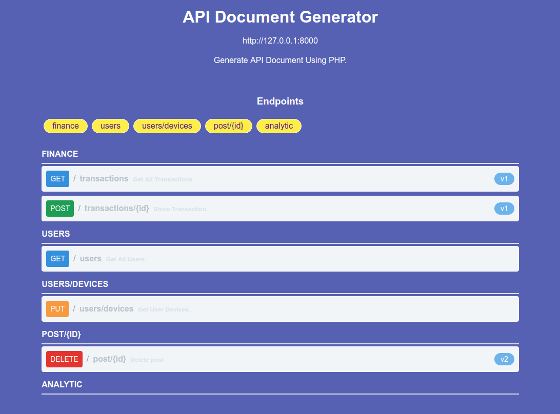 ساخت API Document بدون خون ریزی‌!