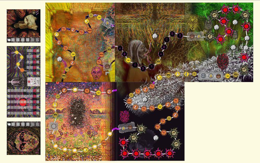 نقشه جنگل تو یکی از بازیها