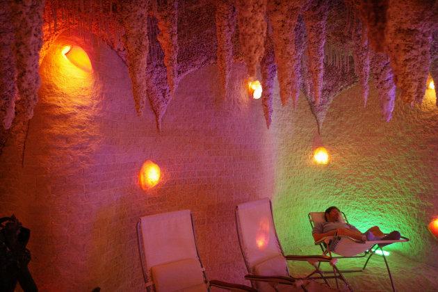 غار نمکی در نمک درمانی غیر فعال