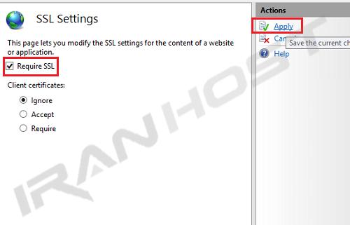 تنظیمات SSL برای وب سایت