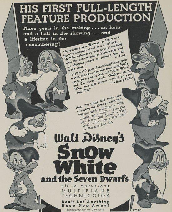 کارتون سفید برفی و هفت کوتوله