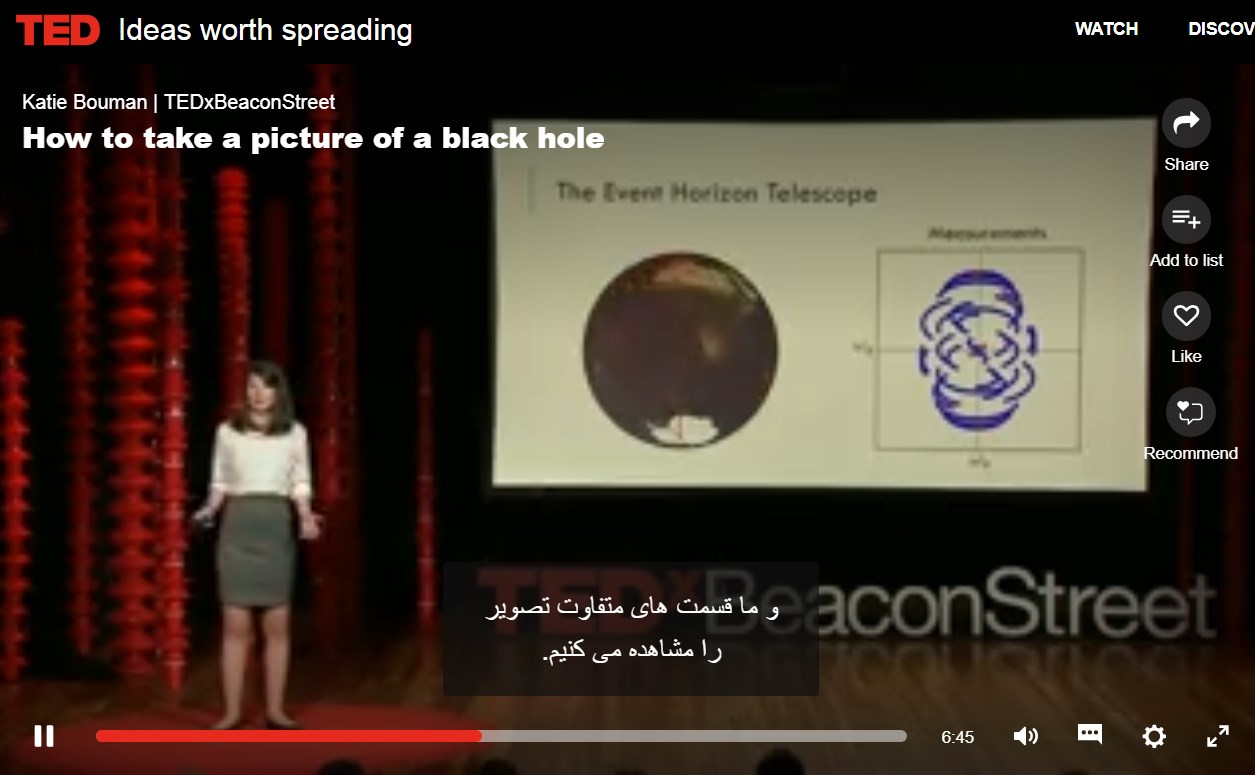 لینک سخنرانی در TEDx ، سال 2016 و معرفی متد و الگوریتم