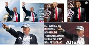 ترامپ عکسهایش را فتوشاپ می کند :))