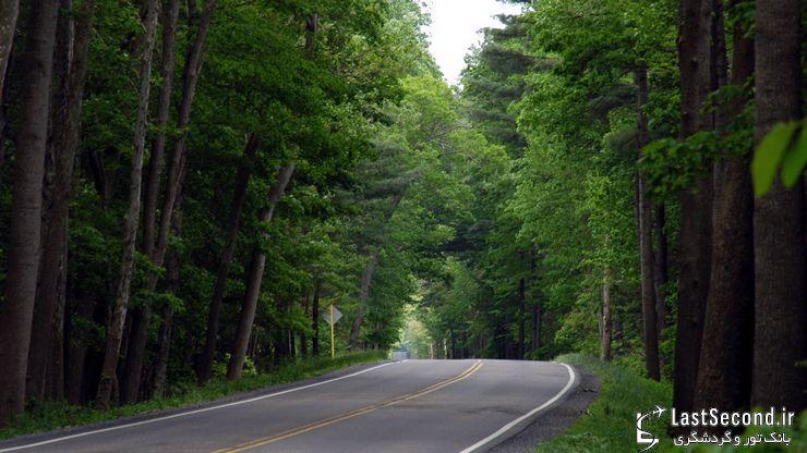 زیبایی جاده ی شمال