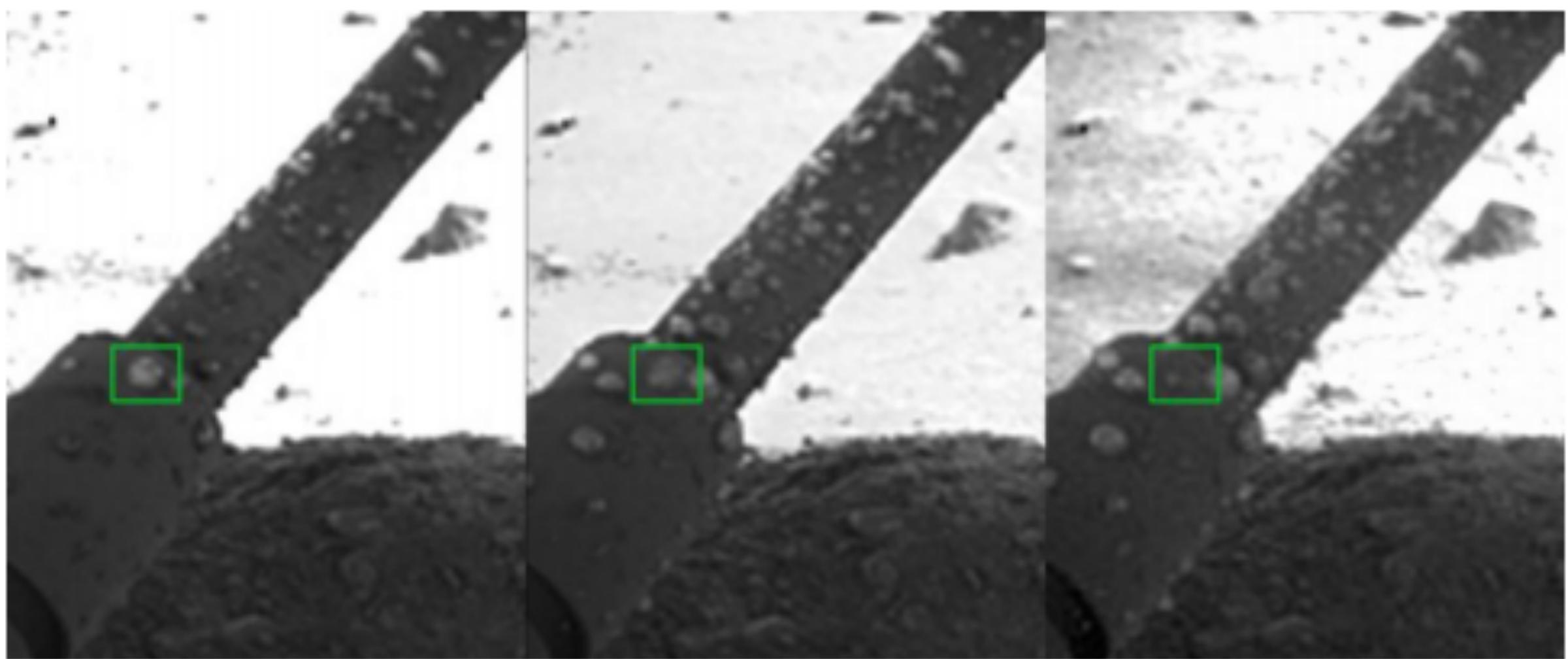 تصاویر قطرات آب مایع بر روی پایه های مریخ نورد فینکس لندر