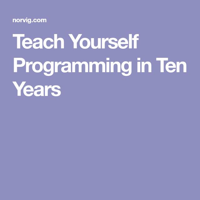 خودآموز برنامه نویسی در 10 سال
