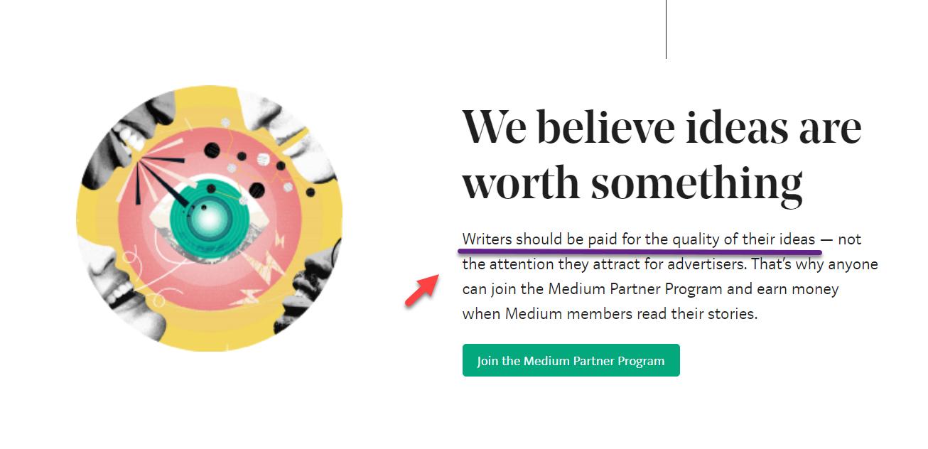 شعار زیبا و ارزشمند Medium: نویسندهها باید برای کیفیت ایدههاشون پول دریافت کنند!