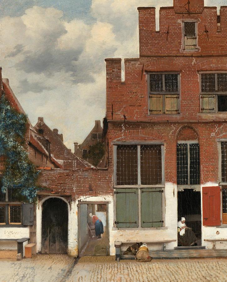 نقاشی معروف The Little Street  ( یک نقاشی معمولی ولی همزادپندارانه!)