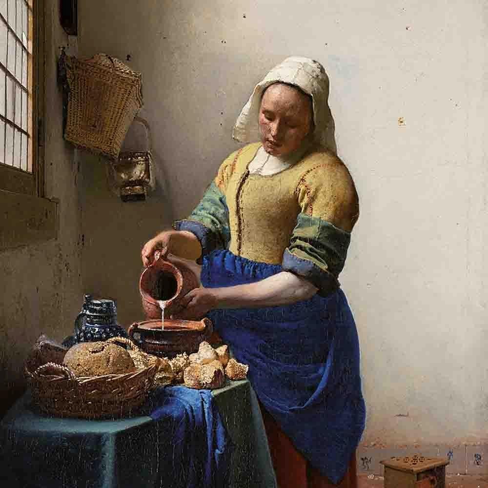 نقاشی The Milkmade ( آماده کردن غذا؛ یک کار روزمره ولی ارزشمند!)