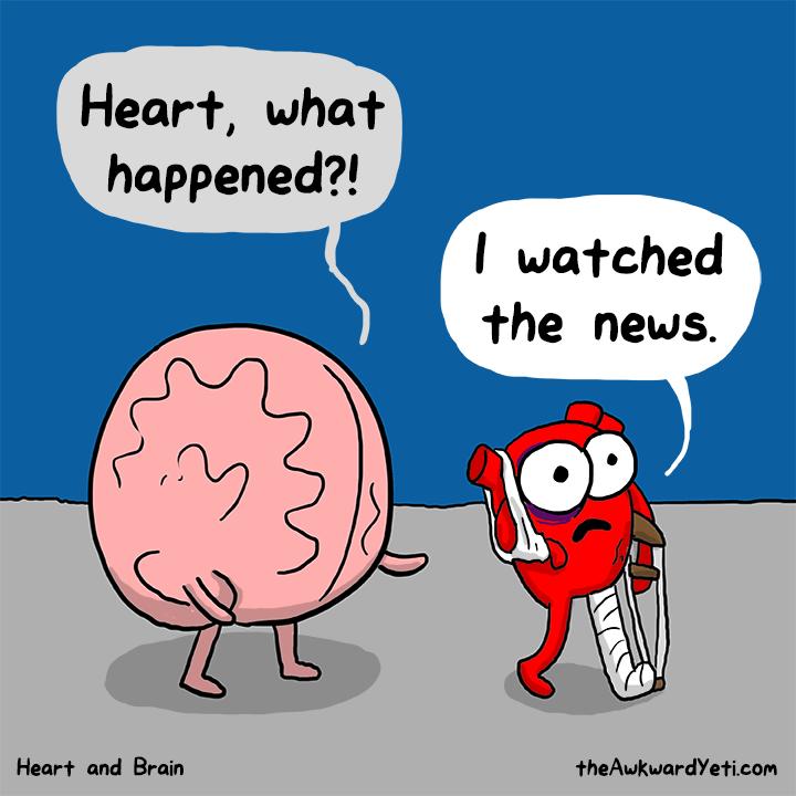 قلب هم در این آسیب بی تأثیر نیست !