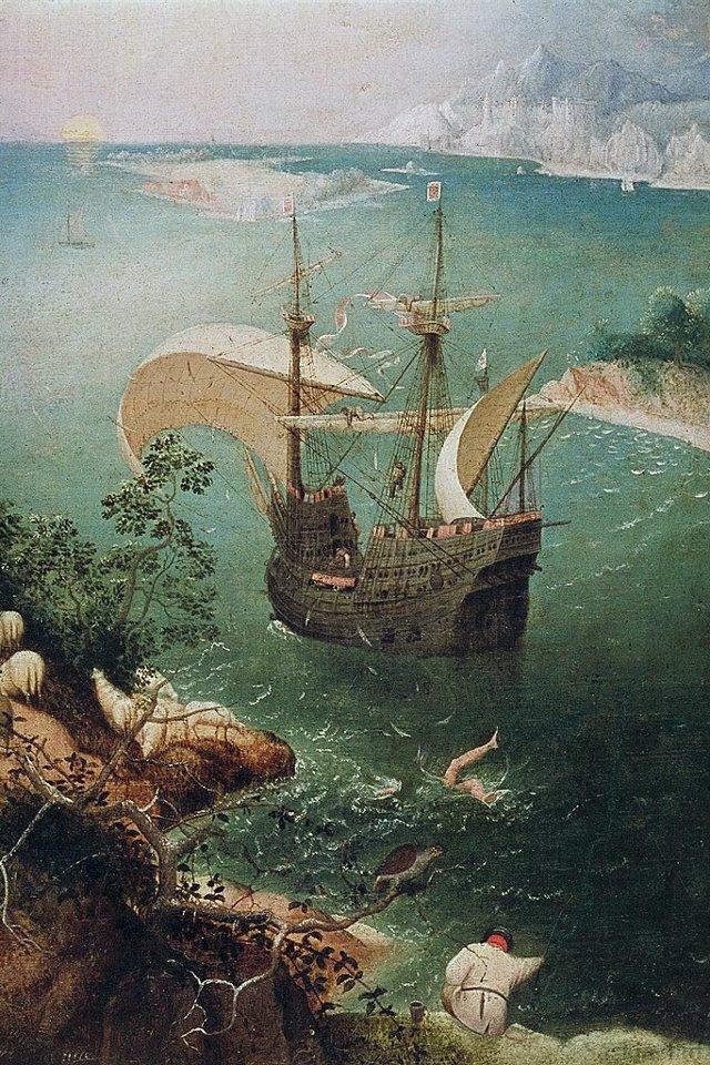 ایکاروس در حال غرق شدن