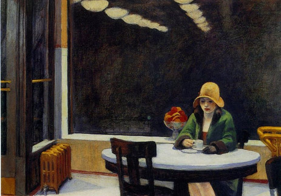 Automat, 1927 by Edward Hopper