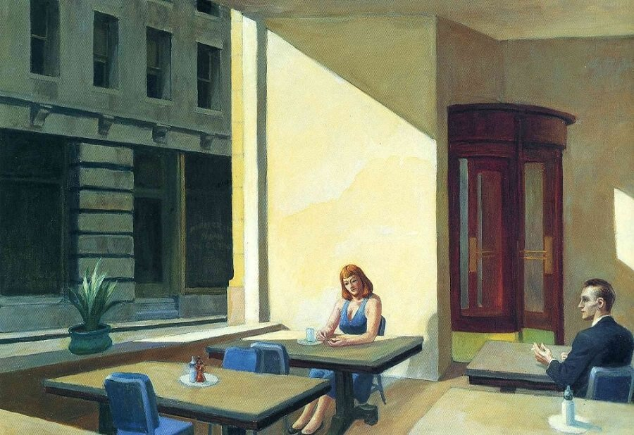 Edward Hopper Sunlight in a Cafeteria, 1958 by Edward Hopper