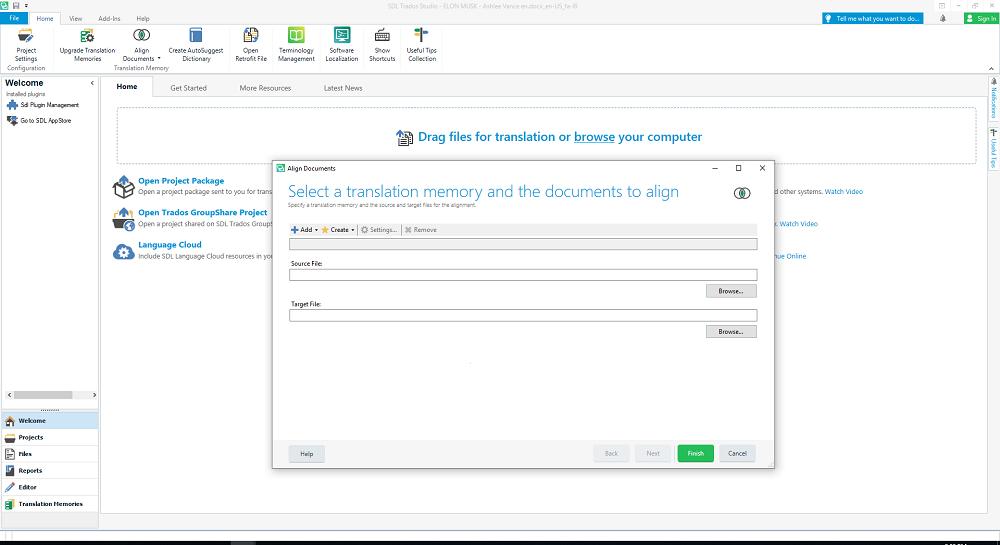 چگونه پروژه های ترجمه شده قدیمی را به نرم افزار SDL Trados Studio اضافه کنیم؟