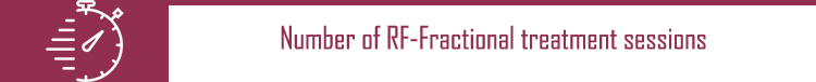 Number of RF-Fractional treatment sessions