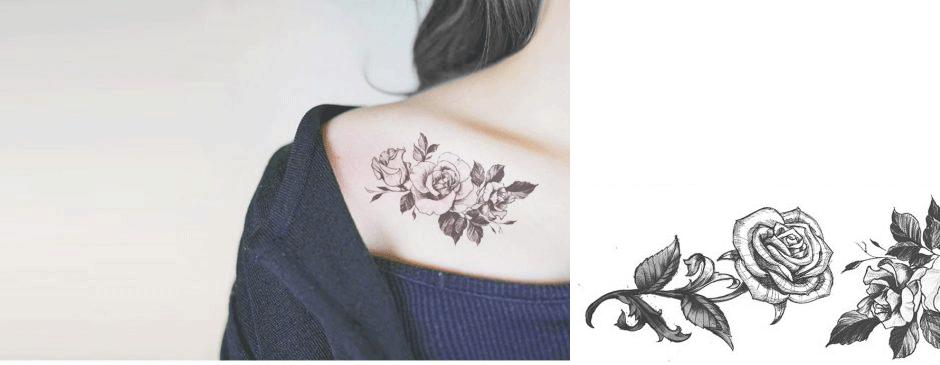 تاتو برچسبی | تاتو عکس برگردان | برچسب تاتو موقت Decal Temporary tattoo