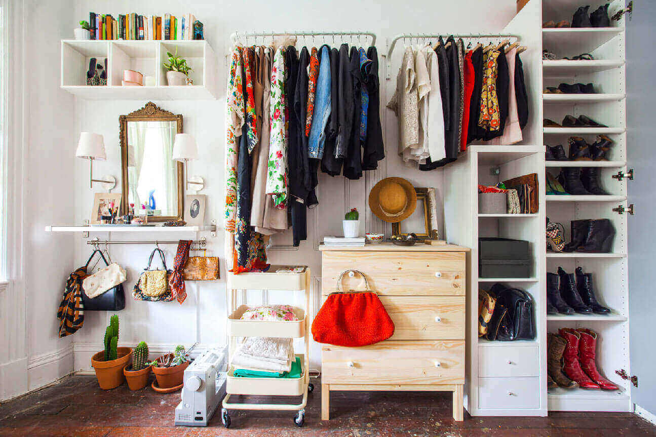 Cleaning the closet and shelfs to destroying and control pests