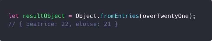 ویژگی جدید Object.fromEntries و تبدیل لیست به آبجکت