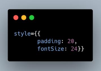 استایل دهی inline در JSX